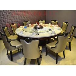厂家定制养生海鲜蒸汽火锅桌带陶瓷炉-聚焦美家具厂家图片