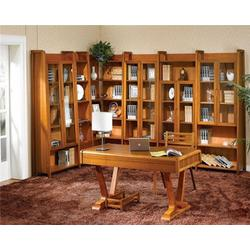 实木书柜、宏润实木家具(在线咨询)、实木书柜尺寸图片