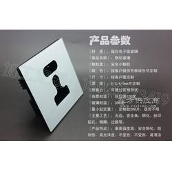 智能家居插座玻璃面板 五孔插座面板玻璃图片