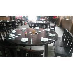 厂家定制烤木餐椅 炭化木桌椅 户外桌椅图片