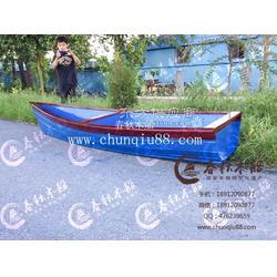 欧式木船 欧式一头尖 定制蓝色帆船 装饰船摄影船观光木船图片