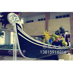 廣場大廳景觀船 貢多拉裝飾船 酒店裝飾木船歐式景觀布置木船圖片