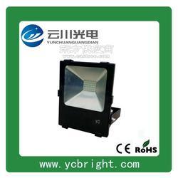 云川新款黑色矩形50WLED投光燈戶外防水投射燈圖片