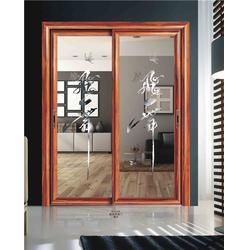 50型铝合金平开门锁_平开门_慕尼门窗图片