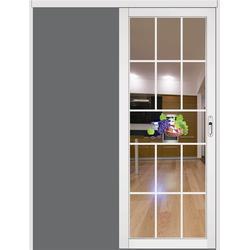 吊趟门|慕尼门窗|三轨带纱窗吊趟门图片