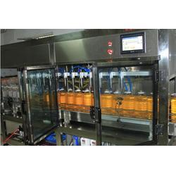 双鸭山豆油灌装机_青州鲁泰机械_大豆油灌装机图片