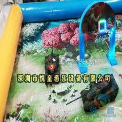 儿童室内游乐设施 商场儿童游乐坦克项目视频图片