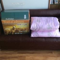 羊奶富硒毯厂家、羊毛被现货供应图片