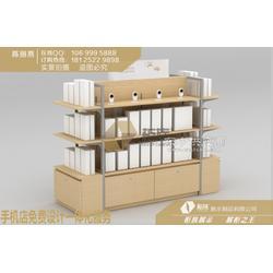 升级加强版小米双面中岛柜,小米木纹岛型展示配件柜图片