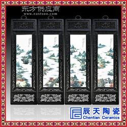 瓷板画手绘客厅玄关书房餐厅楼梯装饰画美式挂画双联小鸟