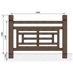 池塘仿木栏杆多少钱、辉也纳建材、龙凤街池塘仿木栏杆