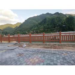 池塘仿木栏杆_辉也纳建材行业标杆_花都池塘仿木栏杆图片