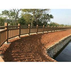榄核镇河道仿木栏杆-辉也纳建材厂家-河道仿木栏杆厂家图片
