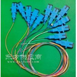 APC广电级12芯色束状带状尾纤图片