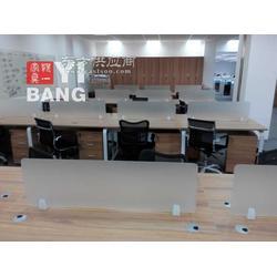 板式组合职员屏风办公桌现场安装图片