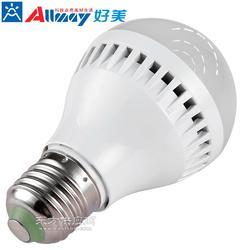 高光效 安全可靠性强移动感应led球泡灯 塑料球泡灯带光控亮灭感应球泡灯图片