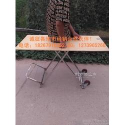 不锈钢架多功能车桌 手拉车 地摊桌 折叠桌厂价图片