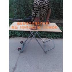 镀锌钢管架多功能车桌 地摊桌 手拉车 折叠桌厂家图片