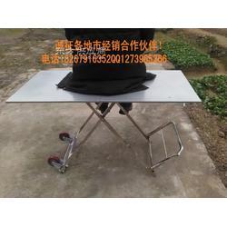 不锈钢架 金属板 车桌 多功能 折叠桌 地摊桌 户外休闲桌 烧烤桌 带轮子货架图片