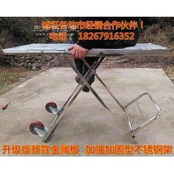 不锈钢 多功能 折叠桌 地摊桌 户外休闲桌 餐桌 烧烤桌 手拉车图片