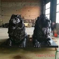 酒店铜狮子厂家_昌宝祥铜狮子铸造厂(在线咨询)_酒店铜狮子图片