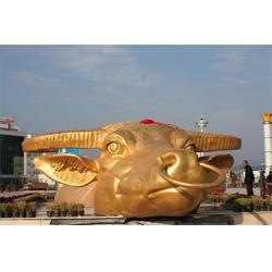 公园铜雕水牛、昌宝祥铜牛厂、山东铜雕水牛图片