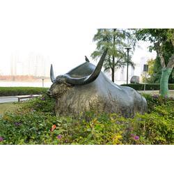 公园铜雕水牛|昌宝祥铜牛厂|河南铜雕水牛图片