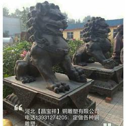 纯铜银行狮子_内蒙古纯铜银行狮子_昌宝祥铜雕(查看)图片