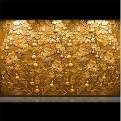 酒店纯铜背景墙|酒店铜背景墙|昌宝祥铜雕(查看)