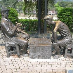 人物街景雕塑,昌宝祥铜雕(在线咨询),街景雕塑图片