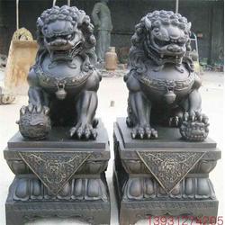 昌寶祥銅雕獅子(圖)-鑄銅宮門獅-鑄銅宮門獅圖片