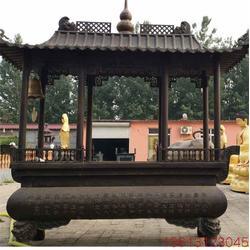 寺庙纯铜香炉|昌宝祥铜雕|浙江纯铜香炉图片