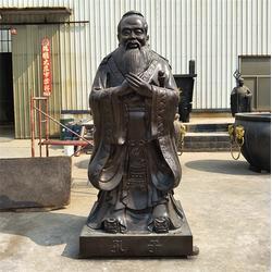 大型孔子铜像、孔子铜像、昌宝祥铜雕厂家图片