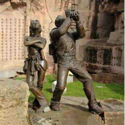 浙江人物銅雕塑-景點人物銅雕塑-昌寶祥銅雕廠家(優質商家)
