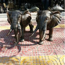 江西铸铜大象-昌宝祥铜雕大象-大型铸铜大象图片