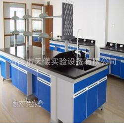 厂家推荐热销生产全钢实验台 钢木边台 可订制中央实验台图片