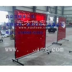 供应防电焊弧光红色软门帘图片