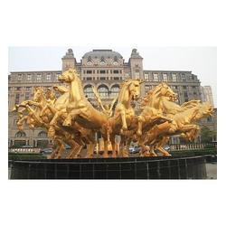 铸铜马制作厂家,三门峡铸铜马,领航铸铜马铜雕塑厂图片