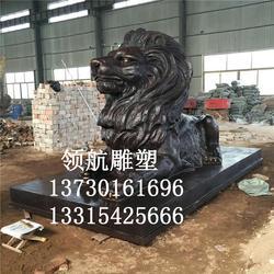 内蒙古铜狮子、铜狮子规格及、领航铜雕图片