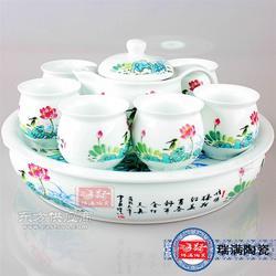 青花瓷茶具生产厂家图片