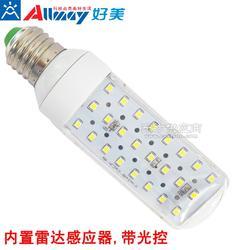 4W 雷达感应led玉米灯 85-265V宽电压移动感应LED横插灯 质保三年图片
