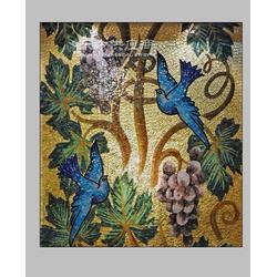 马赛克拼图拼花,金玉满堂玉兰花客厅背景墙瓷砖墙贴图片
