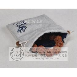 棉麻抽繩袋束口抽繩小布袋手工制作圖片