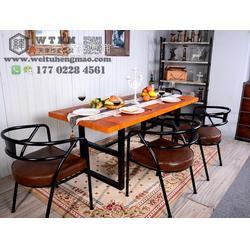 高档实木餐桌椅 可以种植物的实木餐桌 创意餐桌椅图片