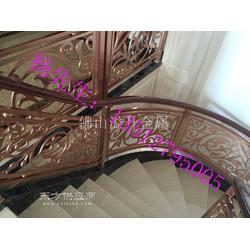 定制别墅玫瑰金欧式铝艺雕花楼梯护栏扶手尺寸图片