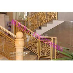 经典铜艺别墅楼梯雕花护栏设计案例图片