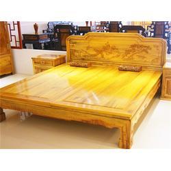 烟台金丝楠木、金丝楠木高低床厂家、义兴公图片