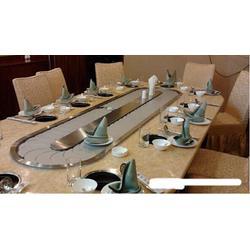 东晟餐饮机械(图)、回转火锅链条、黔江区回转火锅图片