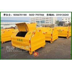 大型自卸式垃圾箱 户外3立方车载环保垃圾箱图片