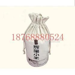 �r家稻花香棉布有�C大米袋定制 5kg麻布大米袋�D片